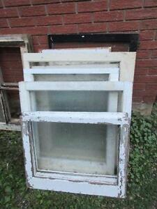 3 OLD WINDOW FRAMES FOR MANY USES