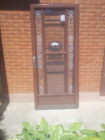 Aluminum Storm Door with glass and screen