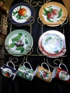 Cups, Plates  and Display Rack