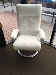 White Leather recliner chairs Broadbeach Gold Coast City Preview