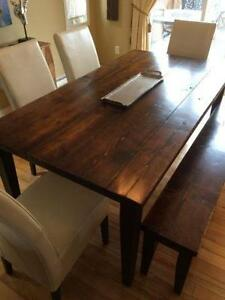Rustic Dining Table and Bench - Table ?? Diner