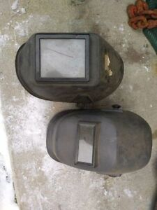 Two welding masks
