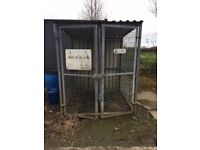 Security cage for gas cylinders