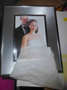 4 NEW silver photo frames for 5 x 7 inch Kitchener / Waterloo Kitchener Area image 1