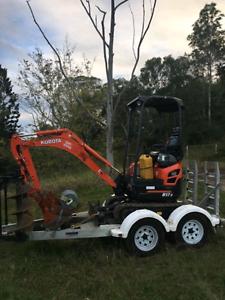 1.7 kubota excavator, mini on trailer Mountain Creek Maroochydore Area Preview