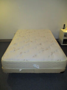 Mattress, bedspring, metal bed frame all includ. Double bed