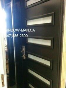 Front Entry Contemporary Modern Door  Installation