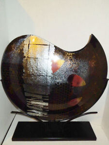 Large Modern Decorative Vase with Stand