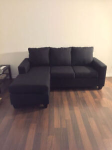 Brand New Black Condo Size  Sectional - Made in Canada