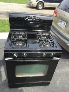 """Nice 30"""" Black Maytag Gas Stove Oven Range Only 2 yrs"""