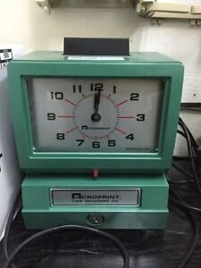 ACROPRINT 125 / TIME CLOCK / PUNCH CLOCK / EMPLOYEE MANAGEMENT