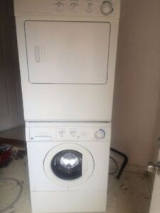 Frigidaire stacked washer and dryer for sale 71h 27w 25d