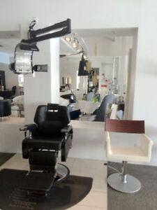 Équipement de coiffure et esthétique – Chaises hydrauliques, etc