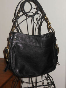 Coach Black Leather Zoe Purse
