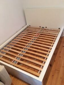 Ikea White Malm Double Bedframe (High) - Free Delivery