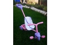 Push - a - long trike for dolls. Musical Sounds.