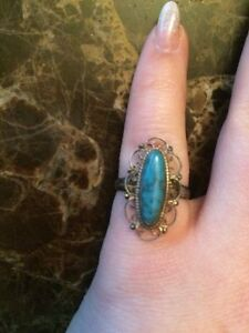Ornate antique turquoise ring - price OBO
