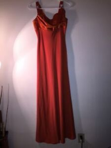 *******BEAUTIFUL ORANGE EVENING GOWN FOR ONLY 50 *****