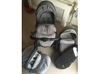 Silvercross surf pram with carry cot, car seat