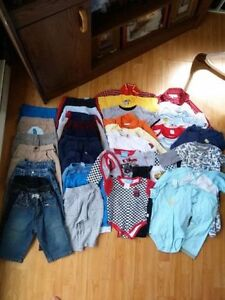 large lot 43 items baby boy clothing 6-12 months