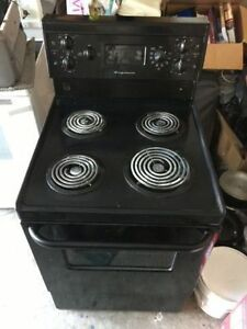 """RARE Black 24"""" electric coil stove oven for restricted space"""
