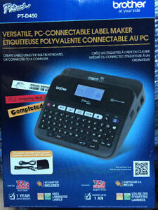 PT-D450 Versatile, PC-Connectable Label Maker sealed in the box