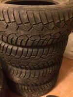 Used set of 205/65R15 snow tires