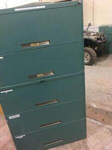 Classeur 5 tiroirs vert