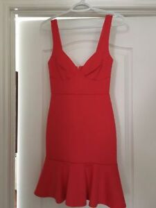 Coral bustier bodycon dress