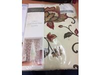 Taylormade Luxury Lined Ready Made Curtains Jacobean (Red)