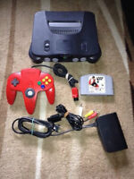 Nintendo 64 N64 System with all cable 1 controller 1 game