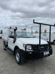 2013 Ford Ranger White Manual Cab Chassis