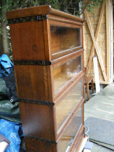 antique 2, 3,4 or 5 level barrister bookcase or sections