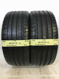 F440 2X 225/35/19 88Y ZR MICHELIN PILOT SUPER SPORT 1X7,5MM 1X8MM TREAD