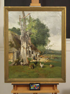 REDUCED! Oil painting by Dutch Master Charles van Wyk 1875-1917