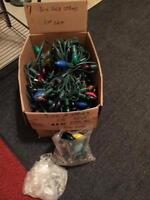7 strings lights with extra bulbs,, 15.00 take all/trades