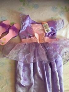 Princess girl's set 2-4 y with dress, crown and sandals. AVAILAB