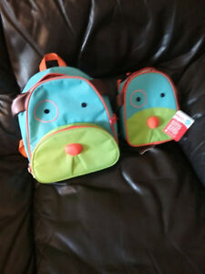 skip and hop back pack and lunch pail