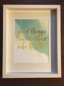 "Art Print - ""Good things Come..."" in white frame $20.00"