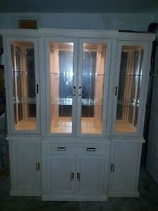 Solid Oak China Cabinet