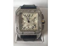 Cartier santos iced watch