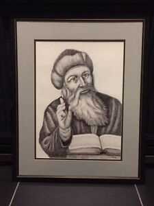 VINTAGE PENCIL DRAWING OF THE GREAT RUMI