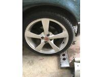 """17"""" alloy wheels & new tyres Mx5 civic corolla 4x100 corsa"""