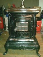 Antique Cast Iron  Wood Buring Parlor Stove **NOW RESTORED**