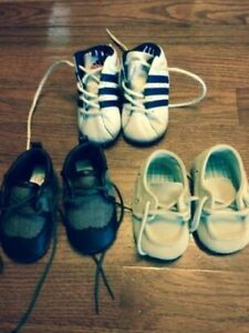 10 SHOES, SIZE NEWBORN, 2, 9, 10, 11, FOR YOUNG BOY