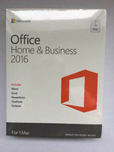 Microsoft Office 2016 for Mac Home and Business (Lifetime copy)