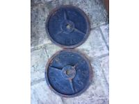 2x 20kg Olympic Metal Weights Plates.