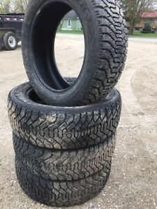215/55/17X4 GoodYear: Winter Tire About 90% Tread