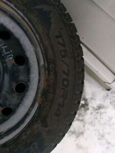 Studded winter tires 175/70R14