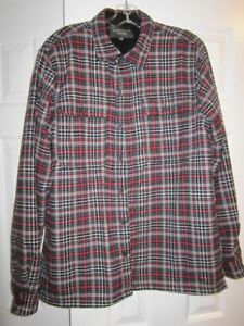 """Hathaway"" size Large tartan shirt..100% cotton flannel with fl"